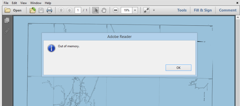 Adobe-Reader-out-of-memory