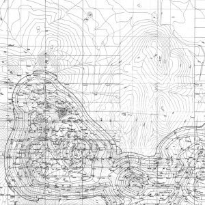 Figure 1: A scanned contour map (left) and